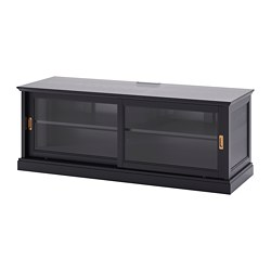 MALSJÖ - TV bench with sliding doors, black stained | IKEA Hong Kong and Macau - PE702708_S3