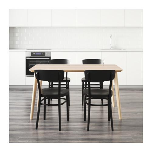 IDOLF/LISABO - table and 4 chairs, ash veneer/black | IKEA Hong Kong and Macau - PE595120_S4