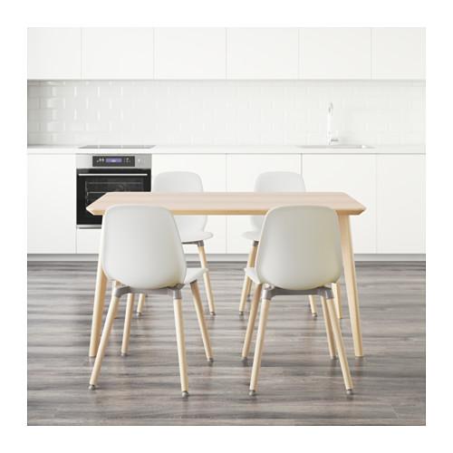 LEIFARNE/LISABO - 一檯四椅, 梣木飾面/白色 | IKEA 香港及澳門 - PE595122_S4