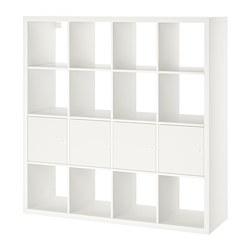 KALLAX - 層架組合連4個貯物格, 白色 | IKEA 香港及澳門 - PE702802_S3
