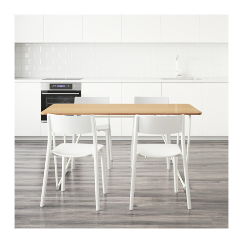 ÖVRARYD/JANINGE - table and 4 chairs, white bamboo/white | IKEA Hong Kong and Macau - PE595170_S4