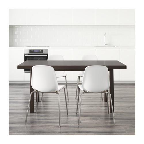 VÄSTANBY/VÄSTANÅ/LEIFARNE - table and 4 chairs, dark brown/white | IKEA Hong Kong and Macau - PE595179_S4