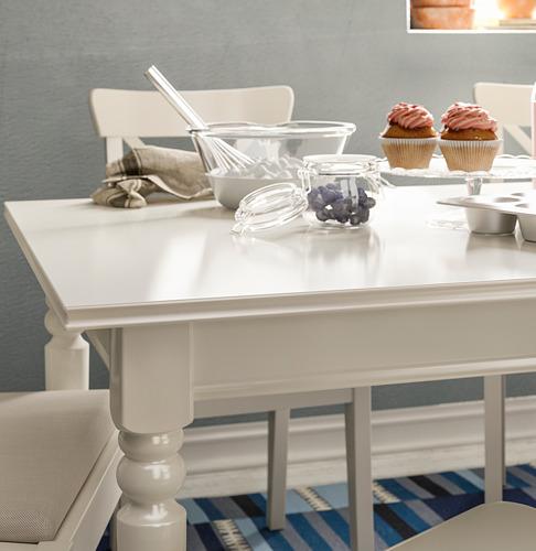 INGATORP/INGOLF - 一檯六椅, 白色/Nordvalla 米黃色 | IKEA 香港及澳門 - PE743392_S4