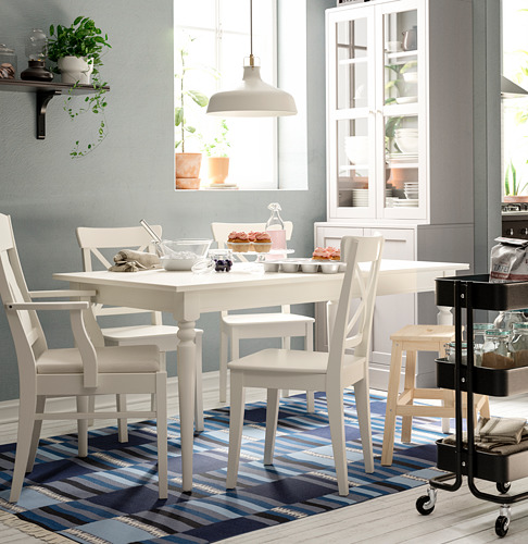 INGATORP/INGOLF - 一檯六椅, 白色/Nordvalla 米黃色 | IKEA 香港及澳門 - PE743393_S4