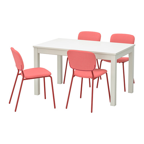 LANEBERG/KARLJAN - table and 4 chairs, white/red red | IKEA Hong Kong and Macau - PE743398_S4