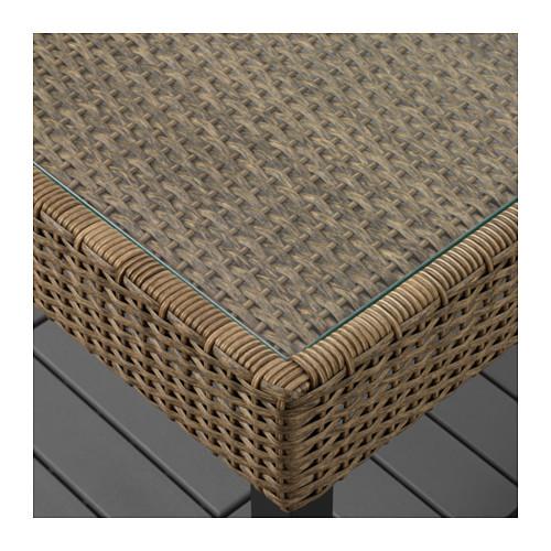 SOLLERÖN - 4-seat conversation set, outdoor, brown/Kuddarna beige | IKEA Hong Kong and Macau - PE655184_S4