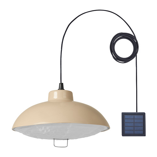 SOLVINDEN - 太陽能LED吊燈, 戶外/米黃色 | IKEA 香港及澳門 - PE797507_S4