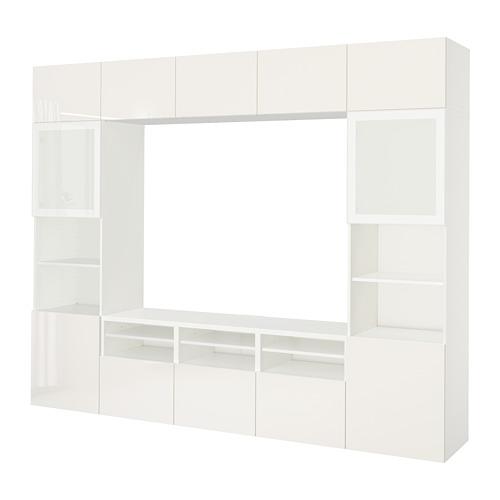BESTÅ - 電視貯物組合/玻璃門, 白色/Selsviken 光面/白色/磨砂玻璃 | IKEA 香港及澳門 - PE703205_S4