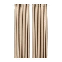 ANNAKAJSA - 半遮光窗簾,一對, 米黃色 | IKEA 香港及澳門 - PE743519_S3
