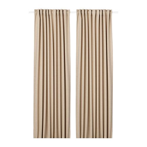ANNAKAJSA - 半遮光窗簾,一對, 米黃色   IKEA 香港及澳門 - PE743519_S4