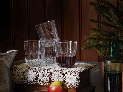 SÄLLSKAPLIG - 水杯, 透明玻璃/圖案   IKEA 香港及澳門 - PH174126_S4