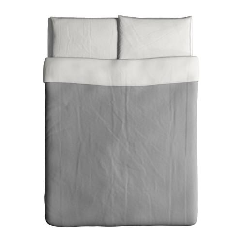 BLÅVINDA - 被套連2個枕袋, 灰色, 200x200/50x80 cm  | IKEA 香港及澳門 - PE595594_S4