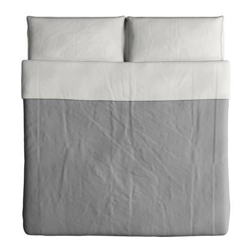 BLÅVINDA - 被套連2個枕袋, 灰色, 240x220/50x80 cm  | IKEA 香港及澳門 - PE595595_S4