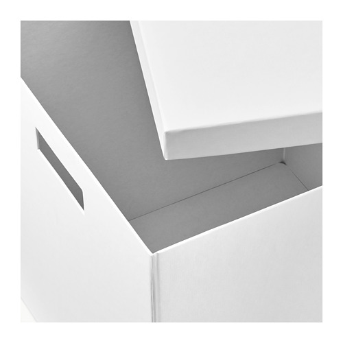 TJENA - storage box with lid, white | IKEA Hong Kong and Macau - PE655341_S4