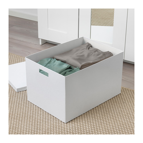 TJENA - storage box with lid, white | IKEA Hong Kong and Macau - PE655338_S4