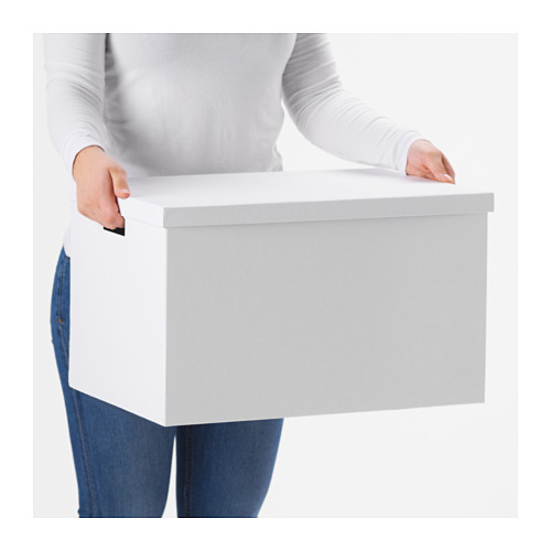 TJENA - storage box with lid, white | IKEA Hong Kong and Macau - PE655340_S4