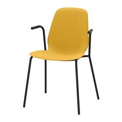 LEIFARNE - 扶手椅, 深黃色/Dietmar 黑色 | IKEA 香港及澳門 - PE743603_S3