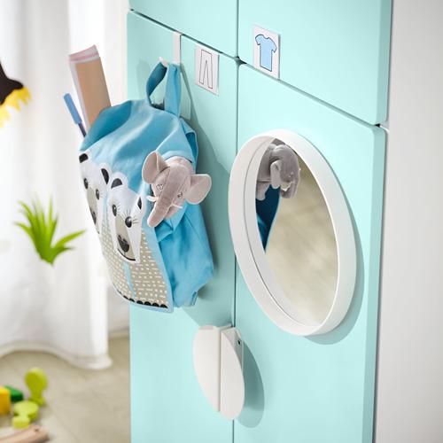 PLATSA/SMÅSTAD - 衣櫃, white pale turquoise/with 2 clothes rails   IKEA 香港及澳門 - PE797575_S4