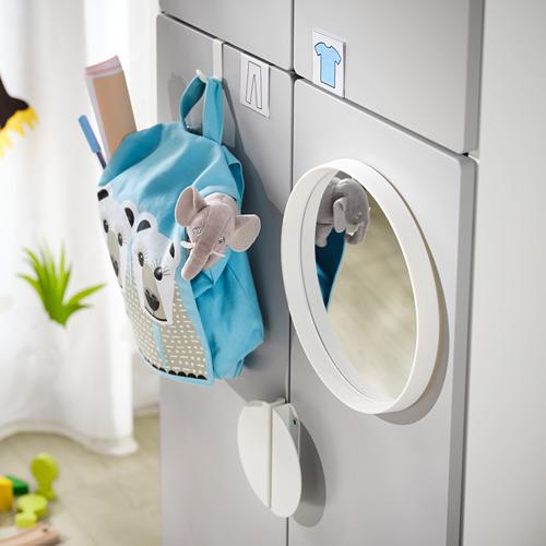 PLATSA/SMÅSTAD - 衣櫃, white grey/with 2 clothes rails | IKEA 香港及澳門 - PE797578_S4