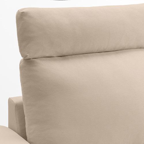 VIMLE - 三座位梳化, with headrest with wide armrests/Hallarp beige   IKEA 香港及澳門 - PE842449_S4