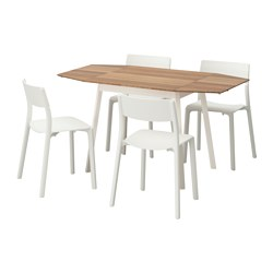 JANINGE/IKEA PS 2012 - table and 4 chairs, bamboo/white | IKEA Hong Kong and Macau - PE595623_S3