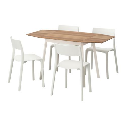 JANINGE/IKEA PS 2012 - 一檯四椅, 竹/白色 | IKEA 香港及澳門 - PE595623_S4