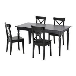 INGATORP/INGOLF - table and 4 chairs, black/brown-black | IKEA Hong Kong and Macau - PE595673_S3