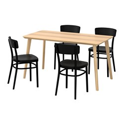 IDOLF/LISABO - table and 4 chairs, ash veneer/black | IKEA Hong Kong and Macau - PE595679_S3