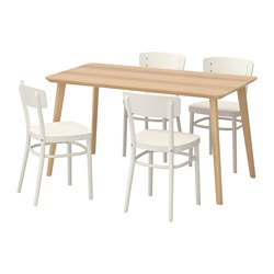 IDOLF/LISABO - table and 4 chairs, ash veneer/white | IKEA Hong Kong and Macau - PE595629_S3