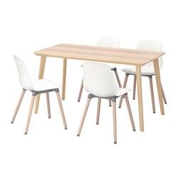 LEIFARNE/LISABO - 一檯四椅, 梣木飾面/白色 | IKEA 香港及澳門 - PE595630_S3