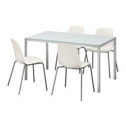 TORSBY/LEIFARNE - 一檯四椅, 玻璃 白色/白色 | IKEA 香港及澳門 - PE595658_S3