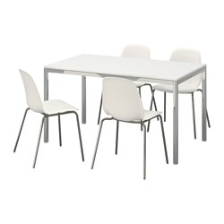 TORSBY/LEIFARNE - table and 4 chairs, high-gloss white/white | IKEA Hong Kong and Macau - PE595676_S3