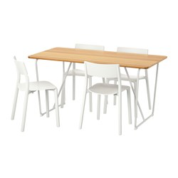ÖVRARYD/JANINGE - table and 4 chairs, white bamboo/white | IKEA Hong Kong and Macau - PE595660_S3