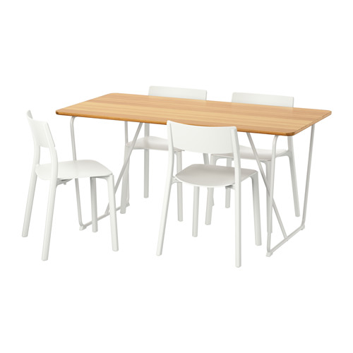 ÖVRARYD/JANINGE - table and 4 chairs, white bamboo/white | IKEA Hong Kong and Macau - PE595660_S4