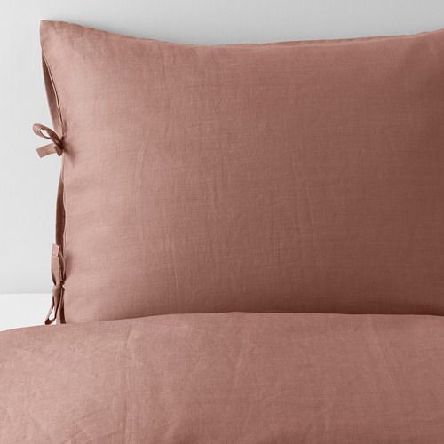 PUDERVIVA 被套連2個枕袋, 深粉紅色, 240x220/50x80 cm
