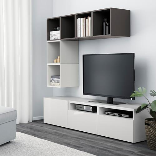 EKET/BESTÅ - 電視貯物組合, white/high-gloss/white | IKEA 香港及澳門 - PE617925_S4