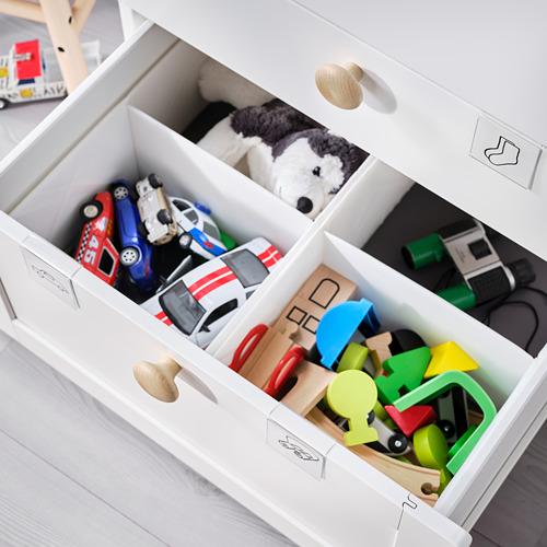 PLATSA/SMÅSTAD - chest of 6 drawers, white with frame | IKEA Hong Kong and Macau - PE797633_S4