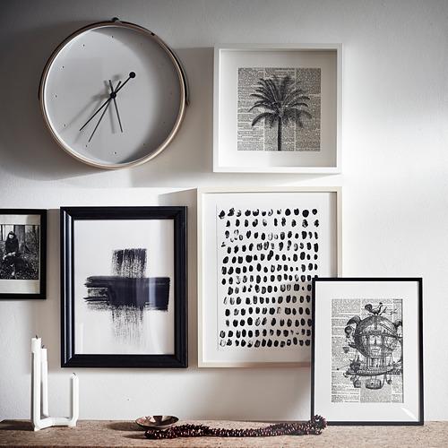 ROTBLÖTA - wall clock, ash veneer/light grey | IKEA Hong Kong and Macau - PE797635_S4