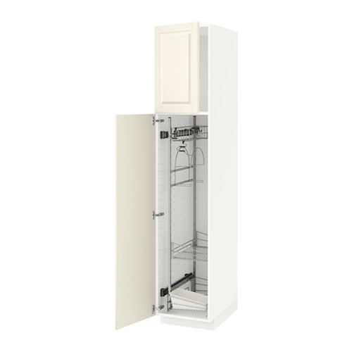 METOD - high cabinet with cleaning interior, white/Bodbyn off-white | IKEA Hong Kong and Macau - PE530659_S4