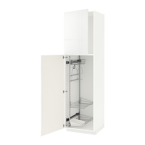 METOD - high cabinet with cleaning interior, white/Ringhult white | IKEA 香港及澳門 - PE530729_S4