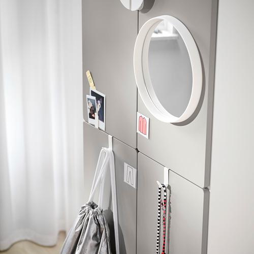 PLATSA/SMÅSTAD - wardrobe, white grey/with 2 clothes rails | IKEA Hong Kong and Macau - PE797650_S4