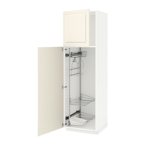 METOD high cabinet with cleaning interior