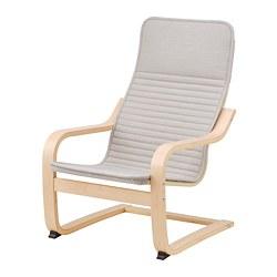 POÄNG - children's armchair, birch veneer/Knisa light beige | IKEA 香港及澳門 - PE797767_S3
