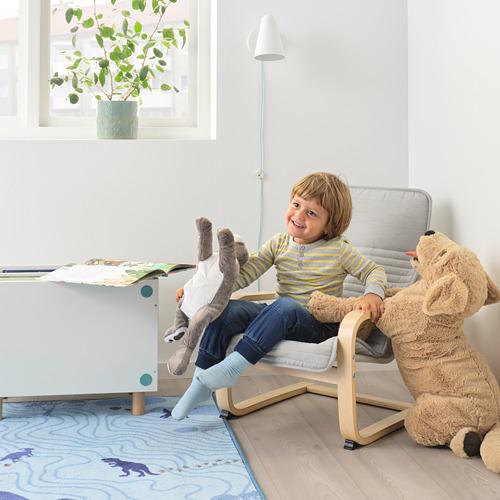 POÄNG - children's armchair, birch veneer/Knisa light beige   IKEA Hong Kong and Macau - PE797766_S4