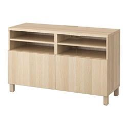 BESTÅ - TV bench with doors, Lappviken white stained oak effect   IKEA Hong Kong and Macau - PE536028_S3