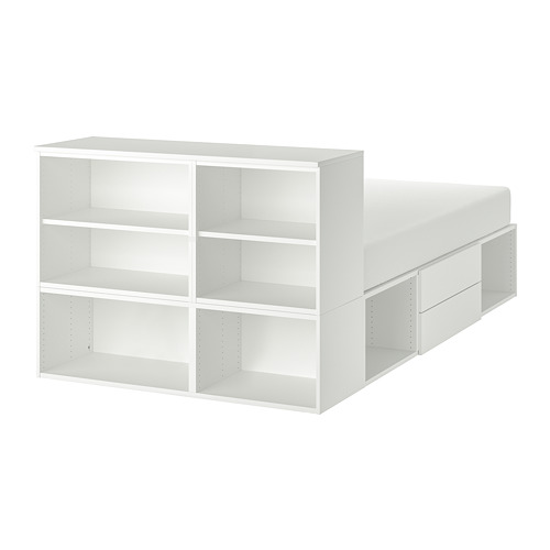 PLATSA - bed frame with 2 drawers, double | IKEA Hong Kong and Macau - PE744325_S4