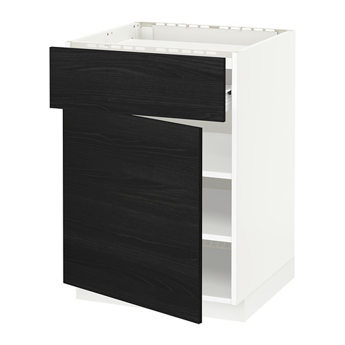 METOD - base cab f hob/drawer/shelves/door, white Förvara/Tingsryd black | IKEA Hong Kong and Macau - PE655966_S4