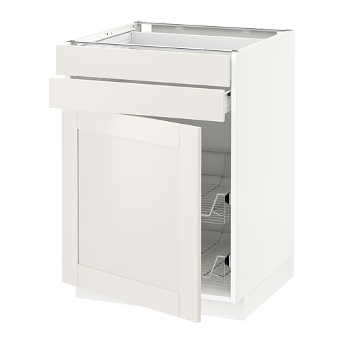 METOD - base cb w door/2 drwrs/wire bskts, white Förvara/Sävedal white | IKEA Hong Kong and Macau - PE655918_S4