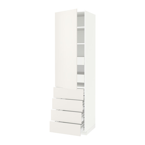 METOD 高櫃連層板/6抽屜/單門/4塊面板