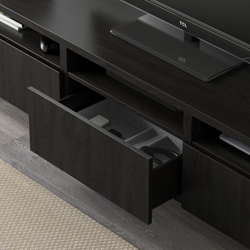 LACK/BESTÅ - TV storage combination, black-brown | IKEA Hong Kong and Macau - PE583006_S4